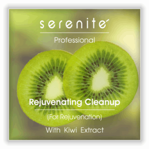 kiwi facial cleanup kit for beauty parlours - serenite rejuvenating cleanup